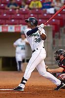 Cedar Rapids Kernels outfielder Adam Walker #38 bats during a game against the Lansing Lugnuts at Veterans Memorial Stadium on April 29, 2013 in Cedar Rapids, Iowa. (Brace Hemmelgarn/Four Seam Images)