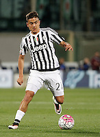 Calcio, Serie A: Fiorentina vs Juventus. Firenze, stadio Artemio Franchi, 24 aprile 2016.<br /> Juventus' Paulo Dybala in action during the Italian Serie A football match between Fiorentina and Juventus at Florence's Artemio Franchi stadium, 24 April 2016. <br /> UPDATE IMAGES PRESS/Isabella Bonotto