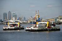 The Woolwich Ferry, southeast London, UK