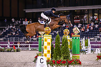 AUS-Edwina Tops-Alexander rides Identitu Vitseroel during the Jumping Individual Qualifier. Tokyo 2020 Olympic Games. Tuesday 3 August 2021. Copyright Photo: Libby Law Photography