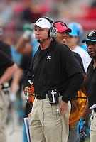 Nov. 27, 2009; Las Vegas, NV, USA; Florida Tuskers head coach Jim Haslett against the Las Vegas Locomotives during the UFL championship game at Sam Boyd Stadium. The Locomotives defeated the Tuskers 20-17 in overtime. Mandatory Credit: Mark J. Rebilas-