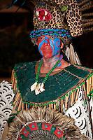 Mayan Representing Mythical Mayan Jaguar, a Warrior Figure, Playa del Carmen, Riviera Maya, Yucatan, Mexico.