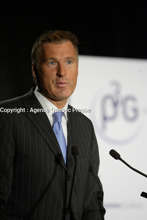 Montreal (QC) CANADA, May 22 2007-<br /> <br /> Maxime Bernier, Minister of Industry, Canada at the<br /> Press conference of P3G (public Population Projet) in Genomics to foster harmonization genomic data collection and to share those datas.<br /> <br /> photo : (c) Pierre Roussel -  images Distribution