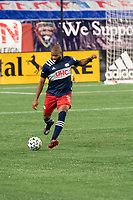 FOXBOROUGH, MA - OCTOBER 19: Andrew Farrell #2 of New England Revolution during a game between Philadelphia Union and New England Revolution at Gillette on October 19, 2020 in Foxborough, Massachusetts.