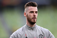 25th May 2021; Gdansk, Poland; Manchester United training at the Stadion Energa Gdańsk prior to their Europa League final versus Villarreal on May 26th;  DAVID DE GEA