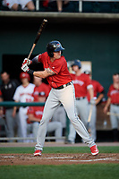 Erie SeaWolves first baseman Dominic Ficociello (25) at bat during a game against the Harrisburg Senators on August 29, 2018 at FNB Field in Harrisburg, Pennsylvania.  Harrisburg defeated Erie 5-4.  (Mike Janes/Four Seam Images)