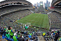 SEATTLE, WA - NOVEMBER 10: General view of the during the first half during a game between Toronto FC and Seattle Sounders FC at CenturyLink Field on November 10, 2019 in Seattle, Washington.