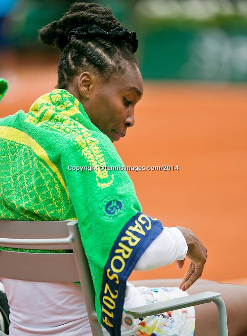 France, Paris, 28.05.2014. Tennis, French Open, Roland Garros, Venus Williams (USA)<br /> Photo:Tennisimages/Henk Koster