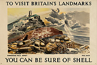 BNPS.co.uk (01202 558833)<br /> Pic: Lyon&Turnbull/BNPS<br /> <br /> Pictured: A poster featuring Kimmeridge on the Jurassic coast <br /> <br /> A vast collection of vintage Shell posters have sold at auction for almost £60,000.<br /> <br /> The group of 49 sheets were sold directly from the oil giant's archives and featured some incredibly rare designs from down the years.<br /> <br /> All of the posters had previously been used in Shell advertising campaigns, dating back to between the 1920s and 1950s.<br /> <br /> Many of the colourful designed featured the slogan 'You can be sure of Shell' and list people who preferred their fuel.