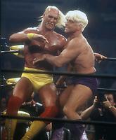 Hulk Hogan vs. Ric Flair, 1990 Photo By John Barrett/PHOTOlink