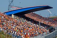 3rd September 2021: Circuit Zandvoort, Zandvoort, Netherlands; Fans on the grandstand Formula 1 Dutch Grand Prix
