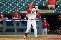 Brett Kinneman (6) of the North Carolina State Wolfpack at bat against the Boston College Eagles in Game Two of the 2017 ACC Baseball Championship at Louisville Slugger Field on May 23, 2017 in Louisville, Kentucky. The Wolfpack defeated the Eagles 6-1. (Brian Westerholt/Four Seam Images)