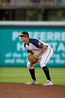 Bradenton Marauders second baseman Jase Bowen (2) during a game against the Palm Beach Cardinals on May 29, 2021 at LECOM Park in Bradenton, Florida.  (Mike Janes/Four Seam Images)