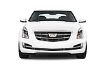 Car photography straight front view of a 2015 Cadillac ATS 2.0 RWD Premium 2 Door Coupe Front View