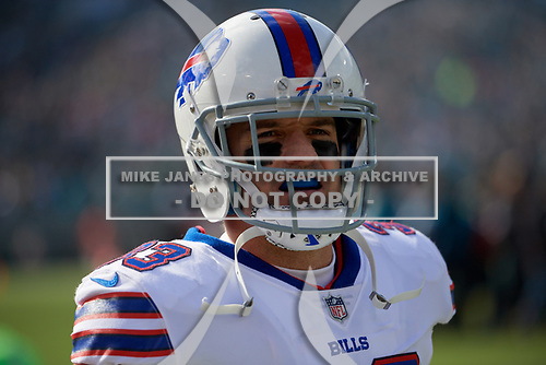 Buffalo Bills Colt Anderson (33) before an NFL Wild-Card football game against the Jacksonville Jaguars, Sunday, January 7, 2018, in Jacksonville, Fla.  (Mike Janes Photography)
