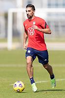 BRADENTON, FL - JANUARY 23: Sebastian Lletget moves with the ball during a training session at IMG Academy on January 23, 2021 in Bradenton, Florida.