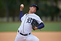 Detroit Tigers pitcher Joseph Salazar (64) during an Instructional League instrasquad game on September 20, 2019 at Tigertown in Lakeland, Florida.  (Mike Janes/Four Seam Images)