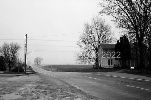 Ohio, Illinois.USA.April 7, 2003..Small town USA.