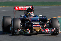 March 15, 2015: Max Verstappen (NDL) #33 from the Scuderia Toro Rosso team rounds turn 2 during the 2015 Australian Formula One Grand Prix at Albert Park, Melbourne, Australia. Photo Sydney Low