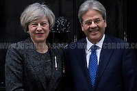09.02.2017 - The Italian Prime Minister Paolo Gentiloni at 10 Downing Street
