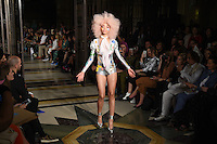 Catwalk<br /> at the Pam Hogg catwalk show as part of London Fashion Week SS17, Freemason's Hall, Covent Garden, London<br /> <br /> <br /> ©Ash Knotek  D3155  16/09/2016