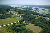 Farmland on bluffs overlooking Mississippi River
