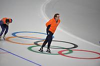 OLYMPIC GAMES: PYEONGCHANG: 17-02-2018, Gangneung Oval, Long Track, Training session, Bjarne Rykkje (coach NED),  ©photo Martin de Jong