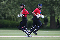 R Saunders and J Sorrell in batting action for Hornchurch during Hornchurch CC vs Harold Wood CC, Hamro Foundation Essex League Cricket at Harrow Lodge Park on 5th June 2021