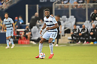KANSAS CITY, KS - JULY 31: Facundo Quignon #5 FC Dallas with the ball during a game between FC Dallas and Sporting Kansas City at Children's Mercy Park on July 31, 2021 in Kansas City, Kansas.