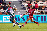 26th September 2020; Toulon, France; European Challenge Cup Rugby, semi-final; RC Toulon versus Leicester Tigers;  Louis Carbonel (RC Toulon) kicks past Tom Youngs