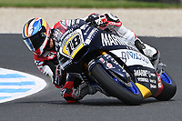 October 27, 2018: Xavi CARDELUS riding the KALEX from the Marinelli Snipers Team during the Moto2 practice session three at the 2018 MotoGP of Australia at Phillip Island Grand Prix Circuit, Victoria, Australia. Photo Sydney Low