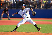 Hudson Valley Renegades starting pitcher Hunter Wood (5) in action against the Brooklyn Cyclones at Dutchess Stadium on June 18, 2014 in Wappingers Falls, New York.  The Cyclones defeated the Renegades 4-3 in 10 innings.  (Brian Westerholt/Four Seam Images)
