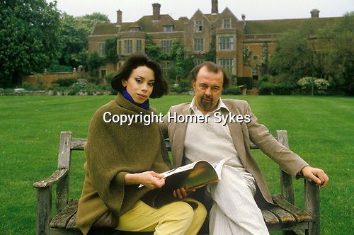 Sir Peter Hall and opera singer wife Maria Manor House 1984.
