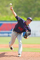 Starting pitcher Christopher McKenzie #22 of the Hagerstown Suns in action against the Rome Braves at State Mutual Stadium on May 2, 2011 in Rome, Georgia.   Photo by Brian Westerholt / Four Seam Images