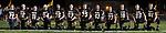 The 2017 Tuscola Warrior Football Seniors. From left are Joseph Wells, Noah Pierce, Dalton Hoel, Andrew Erickson, Caleb Stumeier, Matthew Reese, Hunter Woodard, Dakota Denny, Kevin Miller, John Hill, Jacob Craddock, and Cale Sementi.  [Photo: Douglas Cottle]