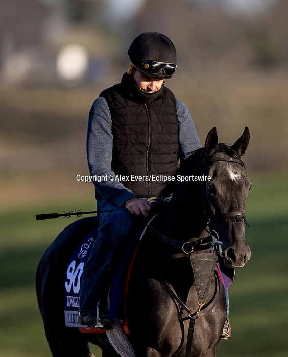 November 3, 2020: Gretzky The Great, trained by trainer Mark E. Casse, exercises in preparation for the Breeders' Cup Juvenile Turf at Keeneland Racetrack in Lexington, Kentucky on November 3, 2020. Alex Evers/Eclipse Sportswire/Breeders Cup