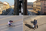 Milano, 22 marzo 2020, dalla mia finestra di via Vigevano, from my window