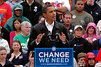 Barack Obama Campaigning for President at Mack's Apples in Londonderry New Hampshire October 16, 2008