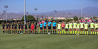 Irvine, CA - July 09, 2019: U.S. Soccer Girls' DA U-16/17 Semifinal Solar Soccer Club vs Beach Futbol Club at Great Park.