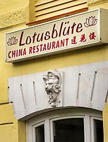 Chinesisches Restaurant Lotusblüte, Löwenstraße 22, in Hamburg-Eppendorf, Deutschland, Europa<br /> Chinese Restaurant Lotusblüte, Löwen St. 22 in Hamburg-Eppendorf, Germany, Europe