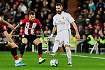 Karim Benzema of Real Madrid and Unai Lopez of Athletic Club during La Liga match between Real Madrid and Athletic Club de Bilbao at Santiago Bernabeu Stadium in Madrid, Spain. December 22, 2019. (ALTERPHOTOS/A. Perez Meca)