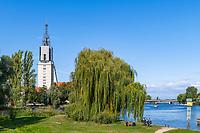 Turm der Heilig-Geist-Kirche an der Havel, Potsdam, Brandenburg, Deutschland
