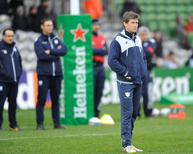Ronan O'Gara, Consultant Racing Metro 92, remains involved with Heineken Cup rugby during the Heineken Cup match between Harlequins and Racing Metro 92 at the Twickenham Stoop on Sunday 15th December 2013 (Photo by Rob Munro)