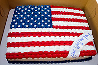 "Michael McCollum<br /> 8/2/18<br /> Special Cake donated by Everything Iced Bakery in Knoxville at the reveal ceremony where it was announced to 13 year old Ryan Overman of west Knoxville that The Wish Connection is granting Ryan's wish to go to Washington DC and visit the White House at Carl Cowan Park, 10058 S Northshore Dr, Knoxville, TN , Thursday, August 2, 2018 at 5:45pm. Approximately 50-60 people attended, including the Overman family, friends, and AT&T Employees. The Bearden High School Cadets also attended and lead the pledge of allegiance.<br />  The AT&T Wish Connection is going to send Ryan, his family, and his service dog to Washington DC and while they are gone, the group of volunteers will be doing a makeover on his bedroom and turn it into the ""Oval Office"" at the White House.<br /> Ryan was born two weeks prematurely on May 13, 2005.  During the pregnancy he was classified as high risk due to a measured lack of growth and, after a brief stay in the hospital, he came home weighing only 4 lbs 5 oz.  His development was much slower compared to his peers, such as not learning to walk until he was well over a year old, and he was much smaller. The Overman family worked with Tennessee Early Intervention Services (TEIS) when Ryan was about one year old and with their help they were able to get Ryan enrolled through TEIS to receive Occupational, Physical, and Speech Therapy.  When Ryan turned three he transitioned from TEIS to the Knox County Early Intervention Program and began attending a special school to continue his therapies until he was old enough to enroll at Cedar Bluff Elementary and now is at Cedar Bluff Middle School. In 2016, Ryan was diagnosed to have retinitis pigmentosa, a degenerative disease of the retinas that under the best of circumstances causes severe tunnel vision, but more commonly results in complete blindness.<br />  Despite the physical difficulties that Ryan has had to endure over the last thirteen years, he continually brightens the lives of those"