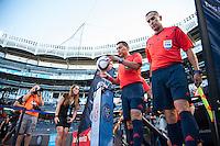 BRONX, NY - Thursday, August 13, 2015: New York City FC defeats DC United 3-1 at home at Yankee Stadium during the 2015 MLS regular season.