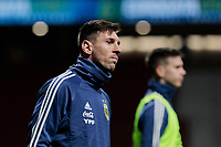 Argentina's Leo Messi warms during International Adidas Cup match between Argentina and Venezuela at Wanda Metropolitano Stadium in Madrid, Spain. March 22, 2019. (ALTERPHOTOS/A. Perez Meca)<br /> Madrid 22-03-2019 <br /> Football Friendly Match <br /> Argentina Vs Venezuela <br /> foto Alterphotos/Insidefoto <br /> ITALY ONLY