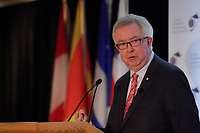 Joe Clark <br /> attend the International Economic Forum of the Americas 20th Edition, from June 9-12, 2014 <br /> <br />  Photo : Agence Quebec Presse - Pierre Roussel