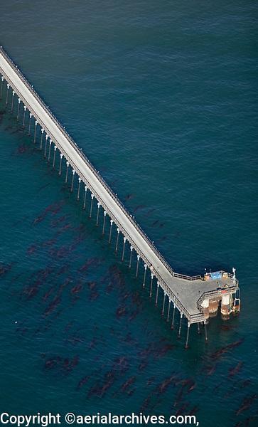 aerial photograph of the Goleta Pier, Santa Barbara County, California