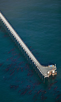 aerial photograph of the Goleta Pier, Santa Barbara County, California
