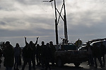 © Remi OCHLIK/IP3 -   Nagil  March 12, 2011 - Opposition forces fight troops of colonel Muamar Gadhafi on a road just outside the little town of Nagil  Libya. Yesterday evening Gadhafi army pushed opposition rebels away from Ras Lanouf the strategic oil city.Loyalist forces bombed the rebels from the air and the ground. At least four  opposition fighters were killed.